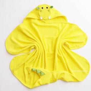 дракон махровое детское полотенце с капюшоном