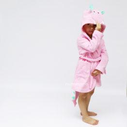 махровый детский халат дракончик с колючками