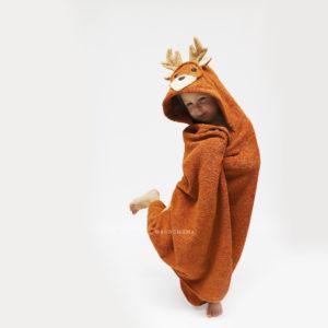 олень полотенце детское с капюшоном махровое