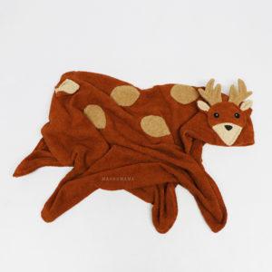 махровое полотенце с капюшоном детское олененок