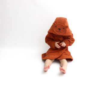 махровый халат для детей и взрослых с мордочкой и ушками мишка
