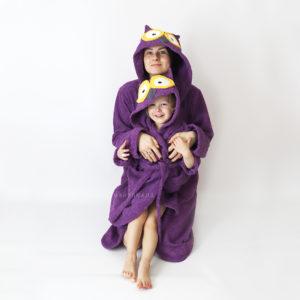 махровый халат женский и детский