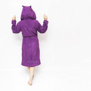 халат махровый женский с капюшоном сова