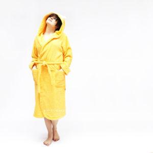махровый халат с капюшоном лиса