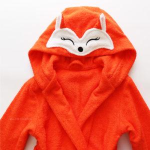 халат махровый с капюшоном рыжая лиса