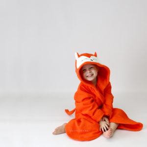 махровый халат для детей лиса рыжая