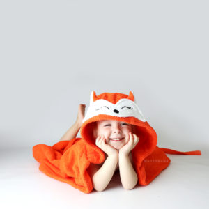 махровый халат для детей с капюшоном