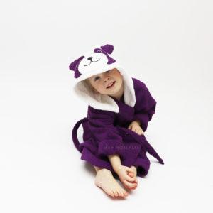 детский махровый халат с капюшоном и ушками и мордочкой панда
