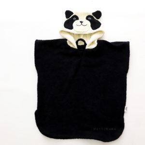 махровое пончо с капюшоном для детей панда