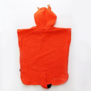 махровое пончо с капюшоном с мордочкой и ушками белочка для детей