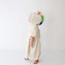 единорог махровое пончо с капюшоном для детей