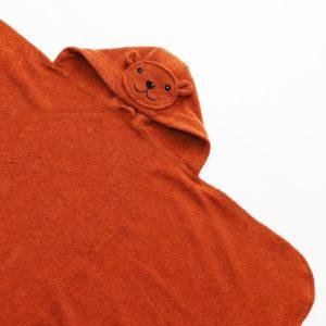 детское махровое полотенце с капюшоном с мордочкой мишки