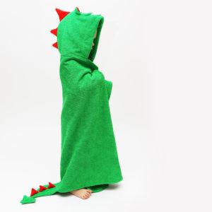 махровое полотенце с капюшоном детское дракон