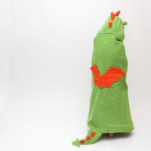 полотенце махровое с капюшоном детское дракон с крыльями и колючками