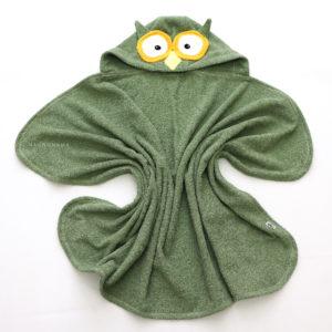 детское полотенце уголок с капюшоном для детей сова