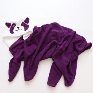 махровое полотенце с капюшоном для детей панда с мордочкой животных