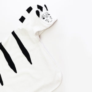 полотенце махровое с капюшоном полосатая зебра