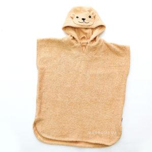 пляжное пончо мишка для детей