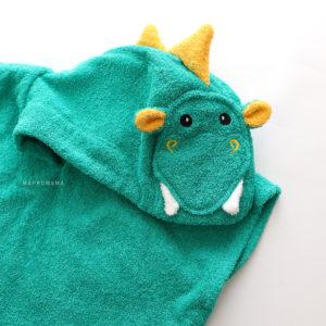 полотенце пончо дракон изумрудный