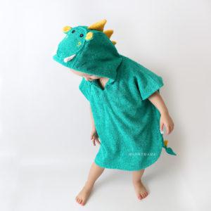 дракон с крыльями махровое пончо для детей