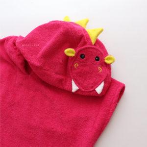 пончо дракон с капюшоном