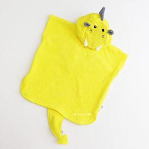 желтый дракон махровое пончо с капюшоном для детей