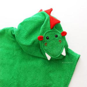 дракон пончо махровое с капюшоном