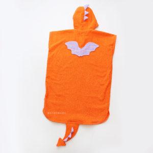 пончо для детей махровое с капюшоном