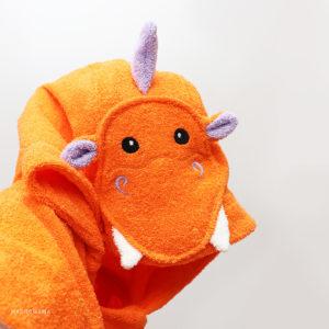 дракон пончо махровое с капюшоном для детей и взрослых