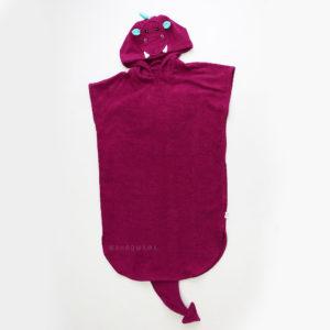 махровое пончо с капюшоном для детей и взрослых