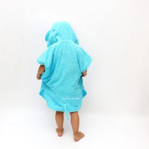 махровое пончо для детей бирюзовый слоник
