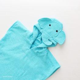 пончо полотенце махровое для детей слоник