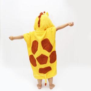 жирафик махровое пончо детское
