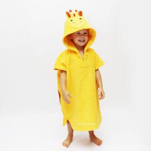 махровое пончо жираф для детей и взрослых