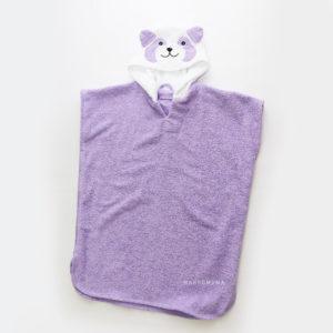 полотенце пончо махровая панда детское