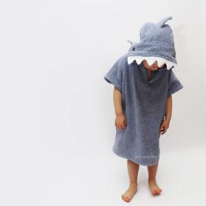 серфпончо акула пончо для серфинга и пляжа