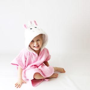 розовый единорог с капюшоном пончо для детей