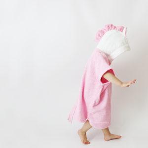 пончо единорог розовый для детей
