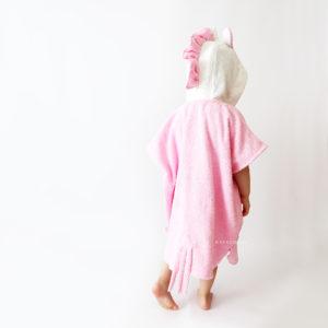 пончо полотенце детское единорог