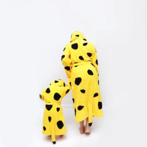 махровый халат леопард для мамы и дочки фэмили лук