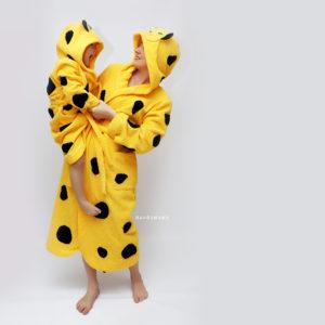 халаты махровые для всей семьи леопарды