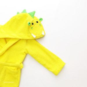 махровый халат дракон для детей