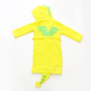 детский махровый халат с капюшоном дракон