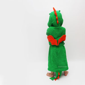махровый халат с капюшоном дракон для детей