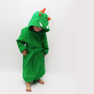 махровый детский халат дракончик