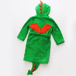 махровый халат с капюшоном детский дракон