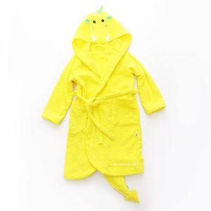 халат махровый детский дракончик жёлтый