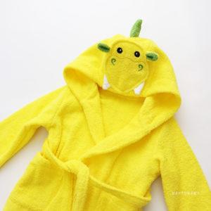 махровый халат желтый дракон