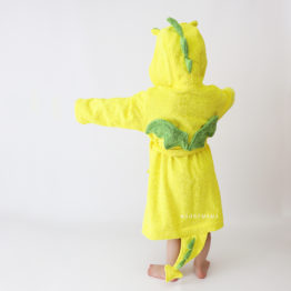 дракончик желтый махровый халат детский