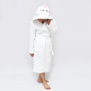 женский махровый халат с капюшоном дракон